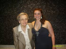 Chelsea and her grandmother Ruth